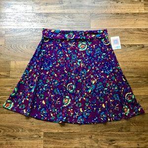 Floral A-line Skirt Azure Purple NWT by LuLaRoe